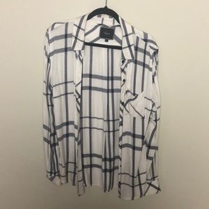 Rails white flannel size small gently worn